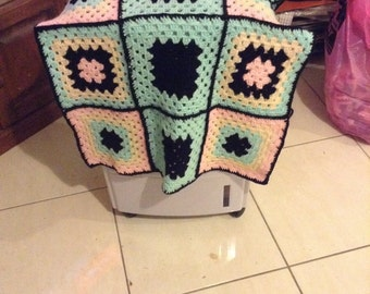Crochetted Knee Rug