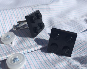 Lego Black Cufflinks in Gift Box