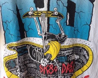 Rare rabel8 x skate x core skateboard  tshirt M