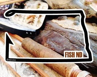 Fish North Dakota Sticker - Idahook Series