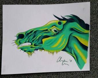 Mean Green - Original Art Piece