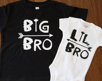 Big Brother Little Brother Shirts, Matching Brother Sibling Set, Big Bro Little Bro Shirts, Big Bro, Lil Bro