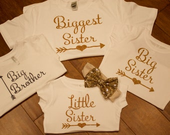 Big Sister shirt, Little Brother shirt, Little Sister Shirt, Twins Shirt, Twins Shirts, Shirts For Twins, Sibling Shirts, Personalized Shirt
