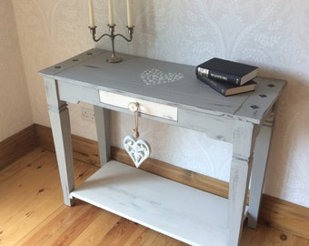 This item now SOLD. Console/hall table hand painted in a shabby chic style