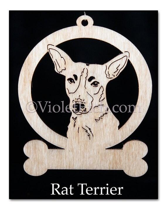 Rat Terrier Ornament-Rat Terrier Gift-Wood Rat Terrier Ornament-Rat Terrier Gift-Free Personalization
