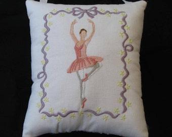 Ribbon Ballerina Music Box -- Personalized Embroidered Musical Keepsake -- Dance, Ballet