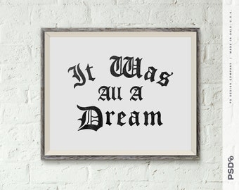 ALL A DREAM - PRINTABLE 8x10 Digital Download