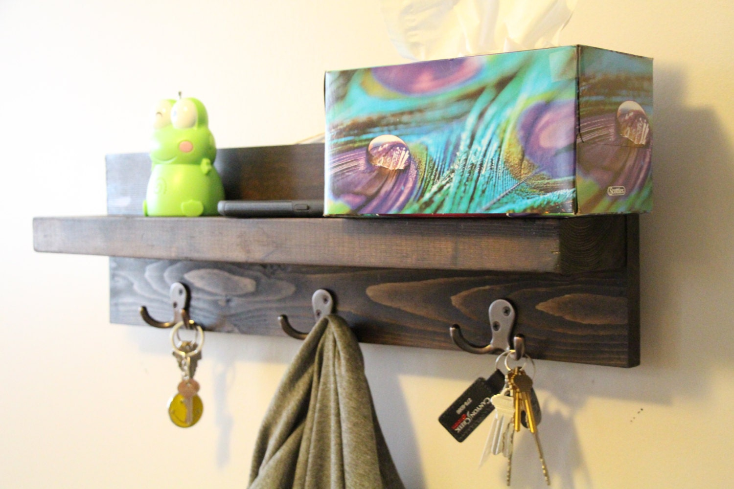 Key holder for wall key holder shelf key organizer wall for Mural key holder