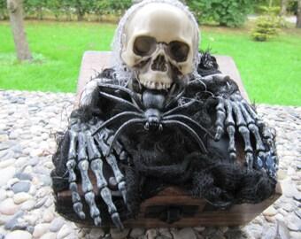 Halloween casket.