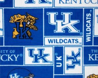 Kentucky Wildcats Hand Tied Fleece Blanket