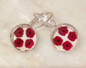 Delicate earrings Jolies coquelicots 12mm