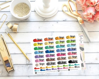 Yoga Stickers || 44 Planner Stickers