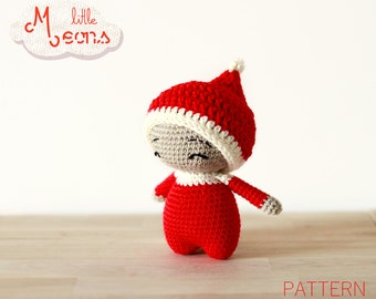 Crochet PATTERN - Teenytiny little Meons - Amigurumi pattern, crochet amigurumi pattern, christmas elf, amigurumi doll