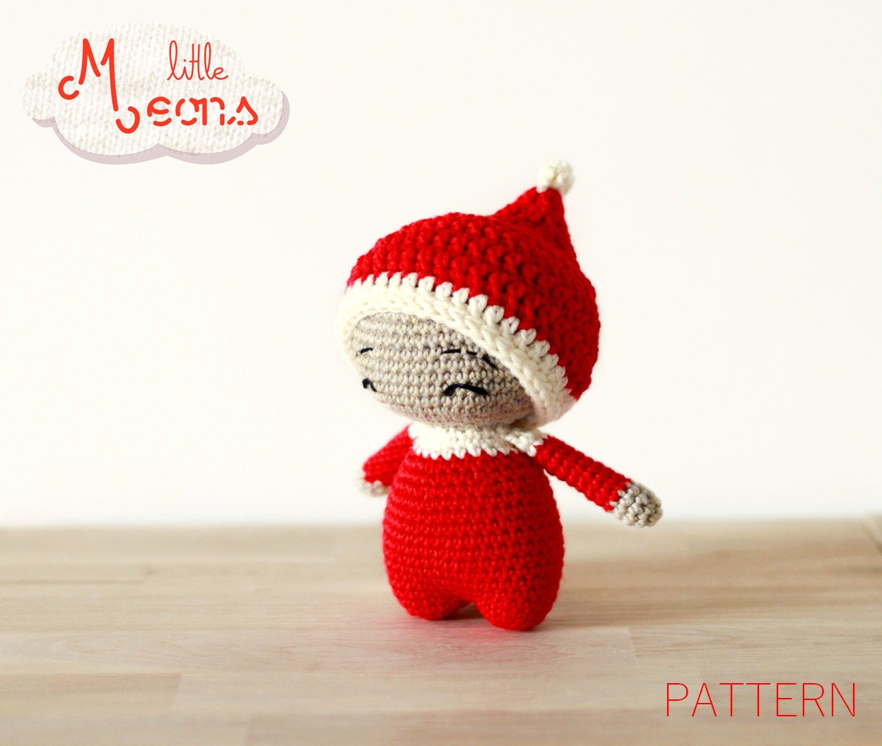 Crochet Amigurumi Doll Body : Crochet PATTERN - Teenytiny little Meons - Amigurumi ...