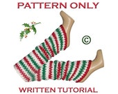TUTORIAL / PATTERN for Holiday / Christmas Leg Warmers in Sparkles for Ugly Christmas Party Fun and Many More Holiday Occasions and Events