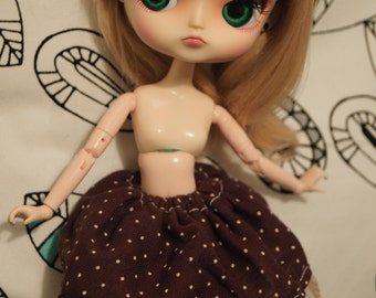 coffee dotted skirt dal pullip obitsu 21/23/27