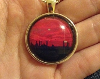 Sunset in the city Pendant