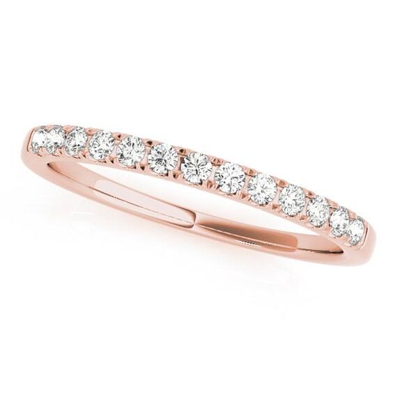 Rose Gold Wedding Band Simple Wedding Ring Rose Gold Wedding