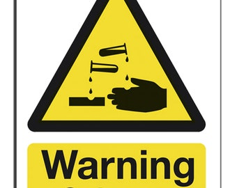 Warning solvents Safety Sign