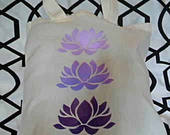 Lotus Canvas Tote Bag