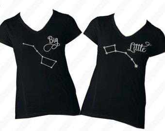 Adult sister shirts - sister birthday gift - SET OF TWO - sister shirts