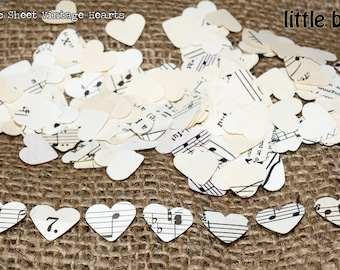 1000 x Musical Confetti Hearts