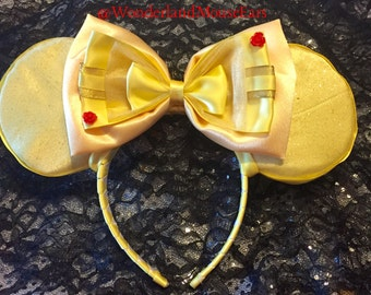 Belle ball gown inspired mouse ears.