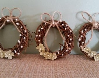 Mini Wreath Ornaments set of 3
