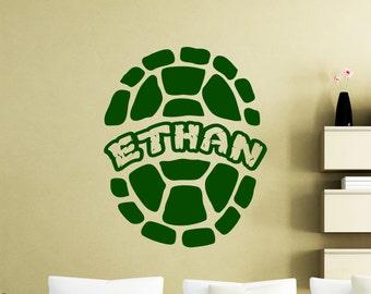 Ninja Name Sticker Etsy - Ninja turtle wall decals