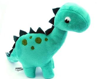 Dinosaur plush toy. Plush dinosaur by Exclusively Handmade. Stuffed toy dinosaur