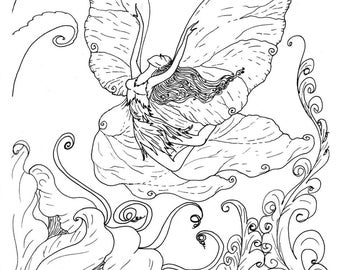 Vintage Fairies And Angels Adult Colouring Book