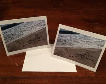 Love Sand Art Card