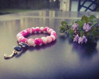 Stretch Kitty Cat charm bracelet