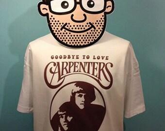 Carpenters 70s Pop Music T Shirt (Goodbye To Love) - White Shirt
