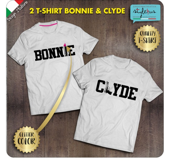 pair of bonnie and clyde t shirt by officinacreativa on etsy. Black Bedroom Furniture Sets. Home Design Ideas