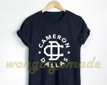 Cameron Dallas Shirt Vine Inspired Internet Personality Black Grey Navy and White Color Tshirt