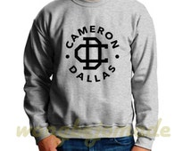 Cameron Dallas Sweatshirt Vine Inspired Internet Personality Black Grey Maroon Navy and White Color Sweatshirts