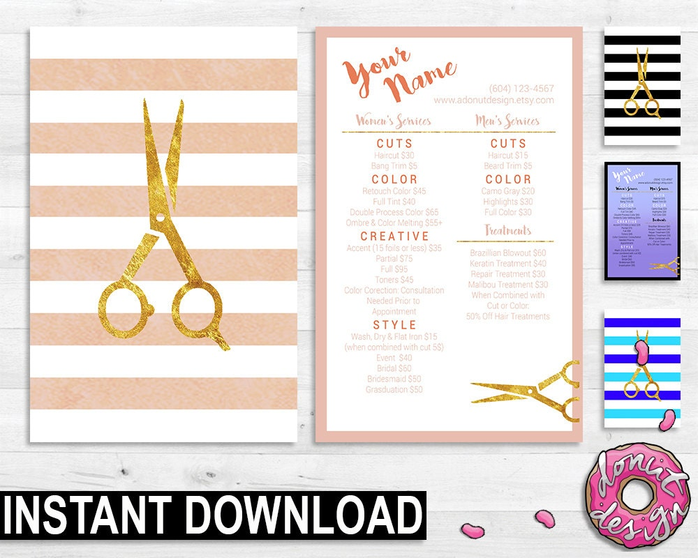 free printable salon templates | datariouruguay