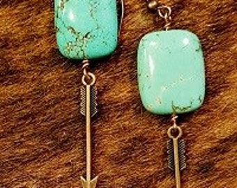 Handmade earrings- turquoise earrings