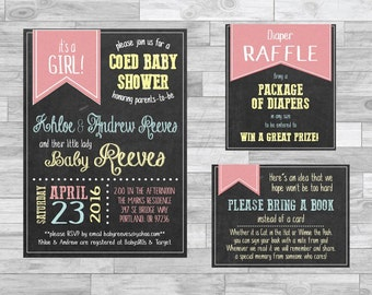coed baby shower digital baby shower coed boy baby shower girl baby