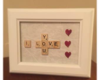 VALENTINES / LOVE Scrabble Frame