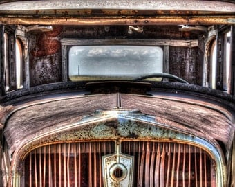 Through the Windshield: Still life art photography prints for home or office wall decor.