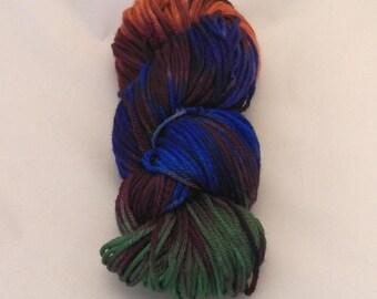Vivid Venetian- Merino Worsted Weight Yarn- Hand Dyed- OOAK