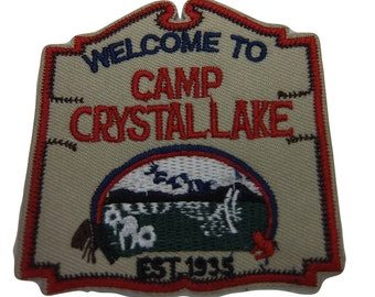 Horror Movie Friday the 13th Series Welcome to Camp Crystal Lake Embroidered Patch (3 inches tall by 3 inches wide)