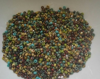 Custom Bead Mix// Picasso Mix// Miyuki Beads// Size 8/0