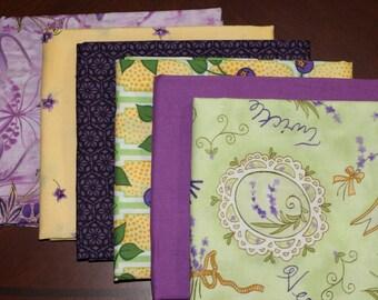Robert Kaufman, Kona Bay, Hoffman Fabrics and Clothwork's fat quarter combination, a 6 piece bundle.