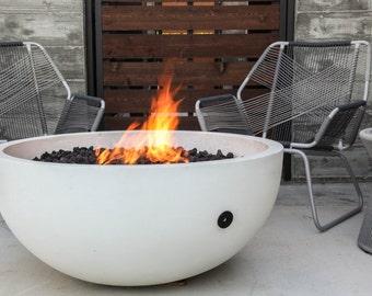 ember fire bowl - concrete fire pit