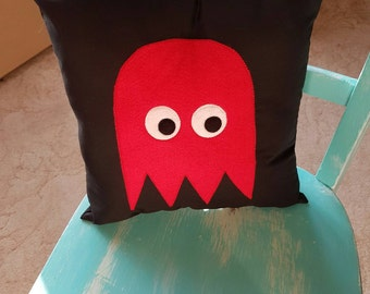 Blinky Ghost From Pacman Cushion