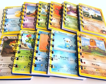 12 Upcycled Pokemon Cards - Pokemon Party Favors - Pokemon Favors - Pokemon Birthday Party - Pokemon