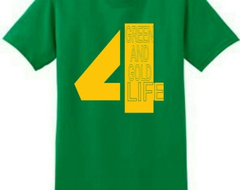 Tshirt: Green And Gold 4 Life